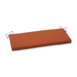 Pillow Perfect Burnt Orange Outdoor Cinnabar Bench Cushion