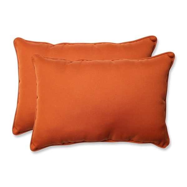 Pillow Perfect Outdoor Cinnabar Corded Oversized