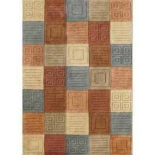Alliyah Handmade Brown Sugar New Zealand Blend Wool Rug (9' x 12')
