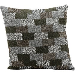 Mina Victory Luminescence Beaded Lego Grey Throw Pillow (16-inch x 16-inch) by Nourison