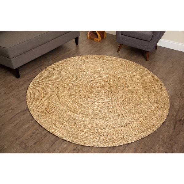 Jani Tara Braided Natural Jute Rug (8' Round)