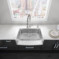 VIGO 30-inch Farmhouse Stainless Steel 16 Gauge Single Bowl Kitchen Sink with Rounded Edge