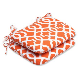Pillow Perfect Outdoor New Geo Rounded Seat Cushion (Set of 2)
