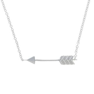 La Preciosa Sterling Silver Sideways Arrow 18-inch Necklace