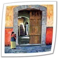Rick Kersten 'Guanajuato Door' Unwrapped Canvas - Multi