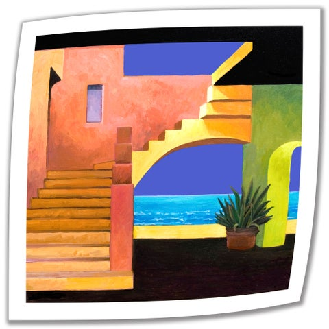 Rick Kersten 'Casa del Mar ' Unwrapped Canvas