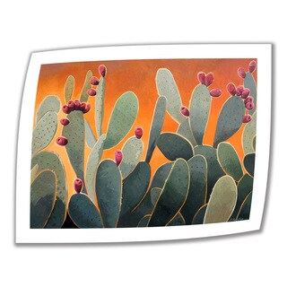 Rick Kersten 'Cactus Orange' Unwrapped Canvas