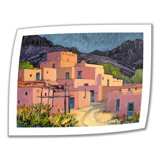 Rick Kersten 'Taos Pueblo' Unwrapped Canvas (4 options available)