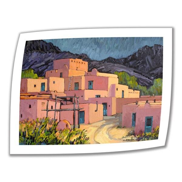 Rick Kersten 'Taos Pueblo' Unwrapped Canvas
