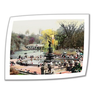 Linda Parker 'Bethesda Fountain' Unwrapped Canvas
