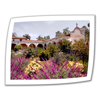 Linda Parker 'Gardens of Mission San Juan Capistrano' Unwrapped Canvas - Multi