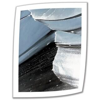 Linda Parker 'Frozen Mountain' Unwrapped Canvas