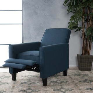 Darvis Fabric Recliner Club Chair by Christopher Knight Home (Option: Dark Blue)