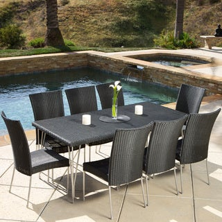 Fairfield 9-piece Outdoor Dining Set by Christopher Knight Home