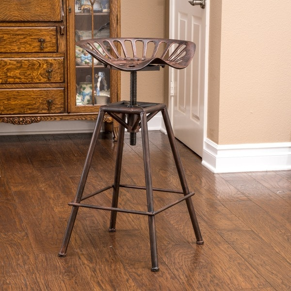 Chapman 28-inch Iron Saddle Copper Barstool by Christopher Knight Home : saddle bar stool - islam-shia.org