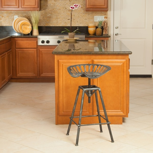 Chapman Iron Saddle Bar Stool by Christopher Knight Home