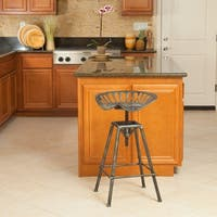 Chapman 28-inch Iron Saddle Bar Stool by Christopher Knight Home