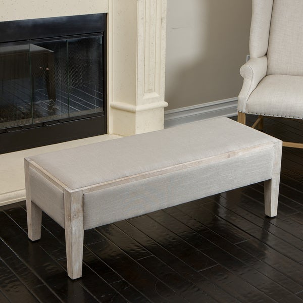 Legion Sage Fabric Bench by Christopher Knight Home