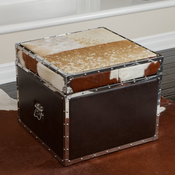 Arizona Cowhide Storage Cube