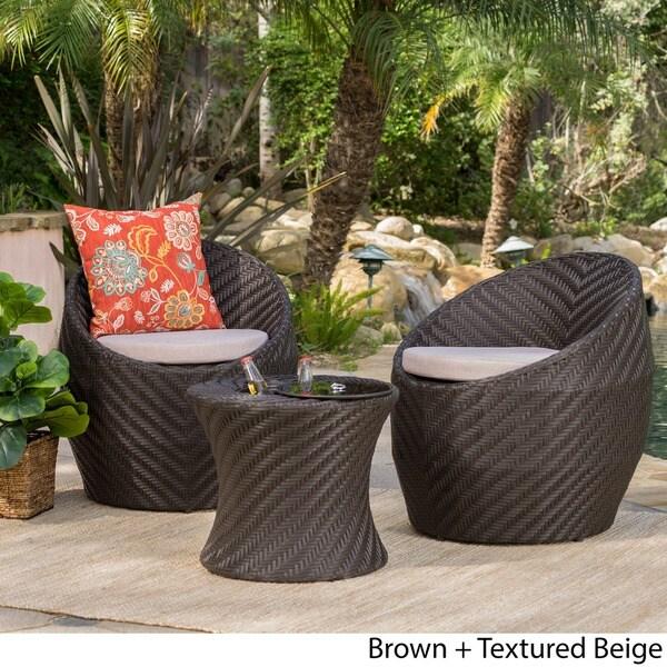 La Jolla Piece Chat Set By Christopher Knight Home Free - La jolla patio furniture