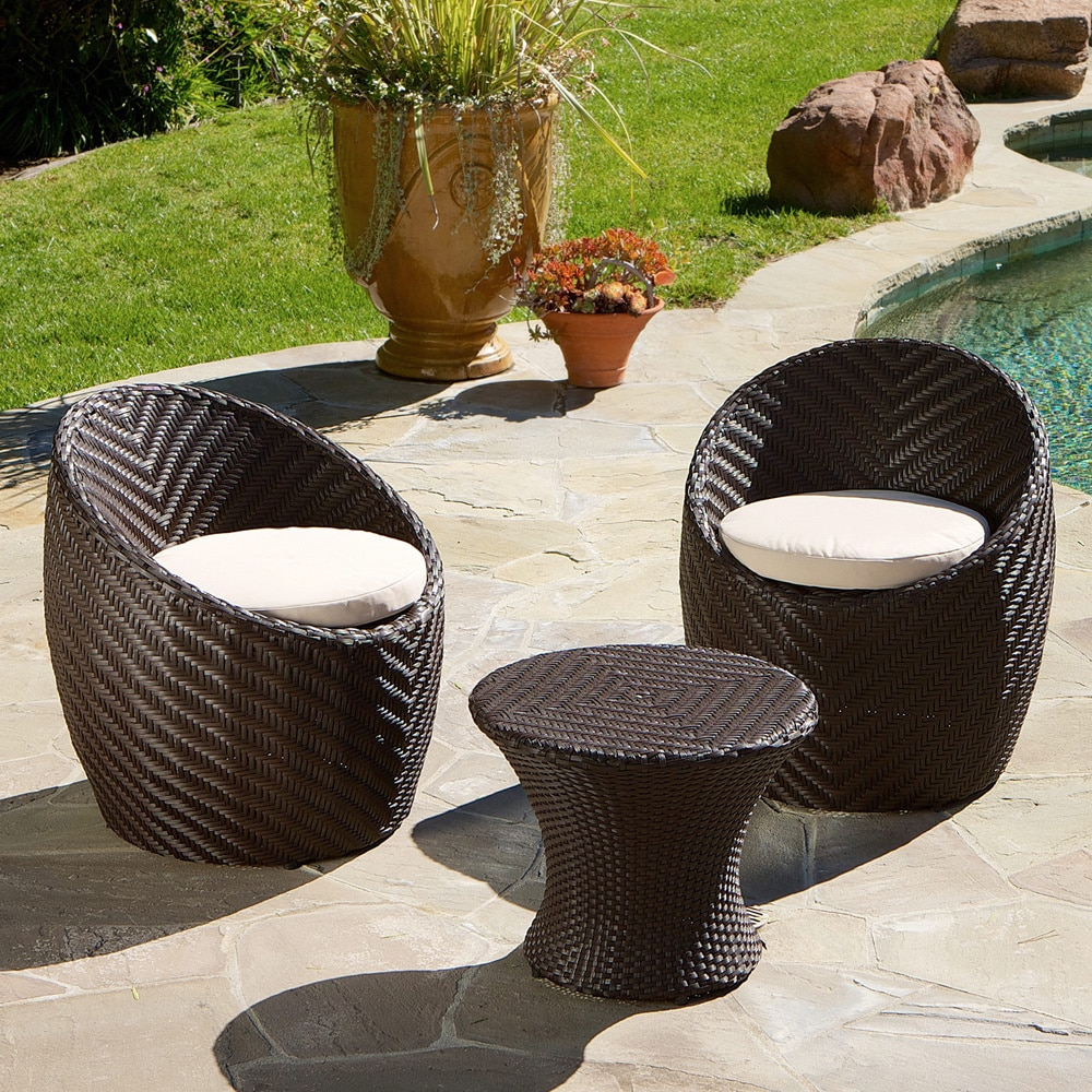 La Jolla 3-piece Chat Set by Christopher Knight Home (Tan...