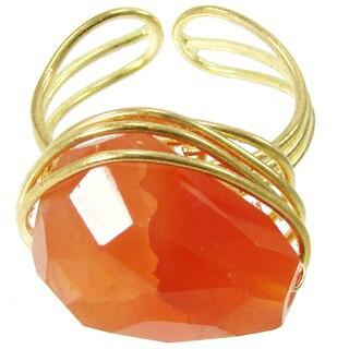 Handmade Agate Chunk Statement Ring (India)