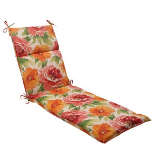 Pillow Perfect Orange Outdoor Primro Chaise Lounge Cushion