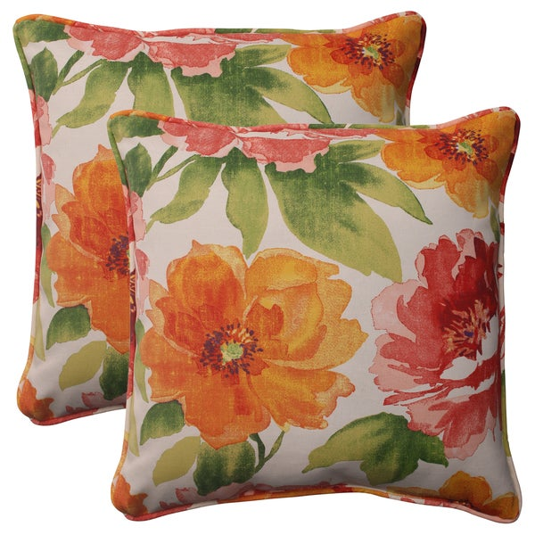 Shop Pillow Perfect Orange Outdoor Primro Corded 18 5 Inch