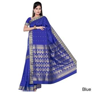 Benares Art Silk Sari/ Saree Fabric (India)