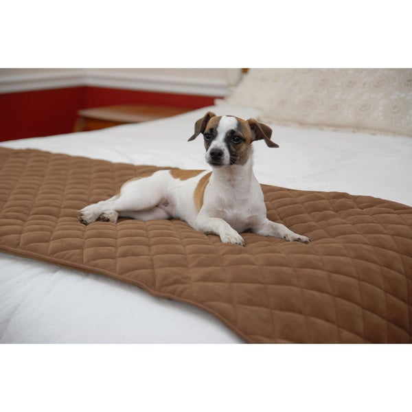 Quilted Chocolate Pet Bed Scarf