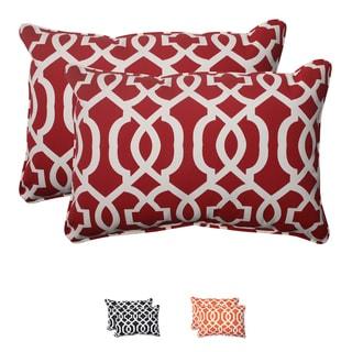 Pillow Perfect Outdoor New Geo Corded Oversized Rectangular Throw Pillow (Set of 2)