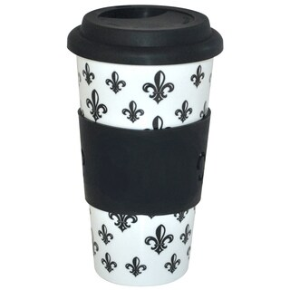 KitchenWorthy Ceramic Fleur De Lis Tumblers (Case of 24)