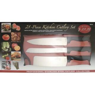 Chef Deluxe 21-Piece Kitchen Cutlery Set