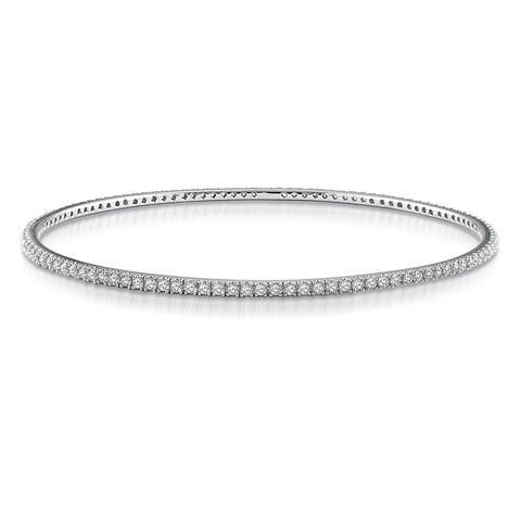 Miadora Signature Collection 14k White Gold 2 1/4ct TDW Diamond Bangle