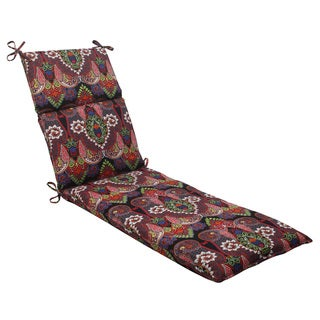Pillow Perfect Outdoor Marapi Black Chaise Lounge Cushion