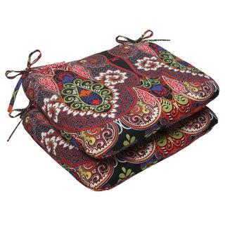 Pillow Perfect Outdoor Marapi Black Seat Cushions (Set of 2)