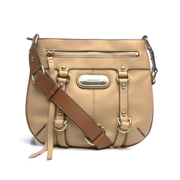 Franco Sarto 'Outback' Leather ColorBlock Crossbody Bag