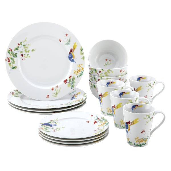 Paula Deen Spring Medley 16-Piece Dinnerware Set