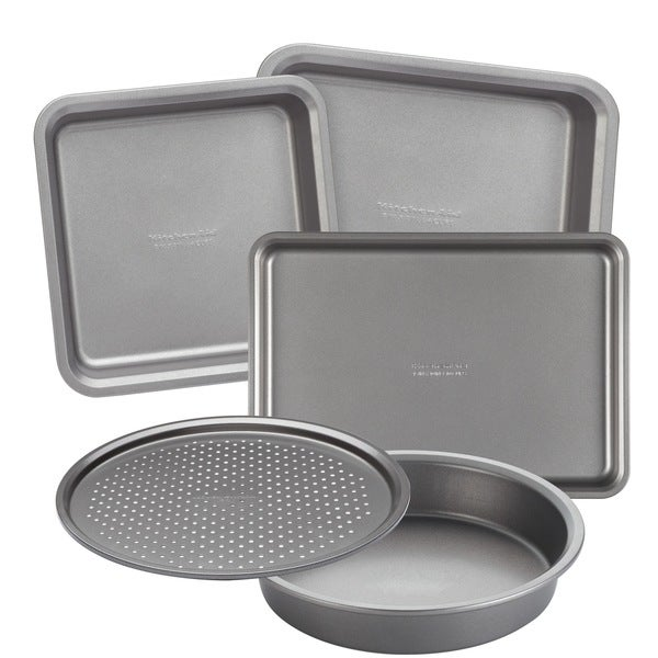 Countertop Oven Bakeware : KitchenAid Bakeware 5-Piece Toaster Oven Bakeware Set - Free Shipping ...