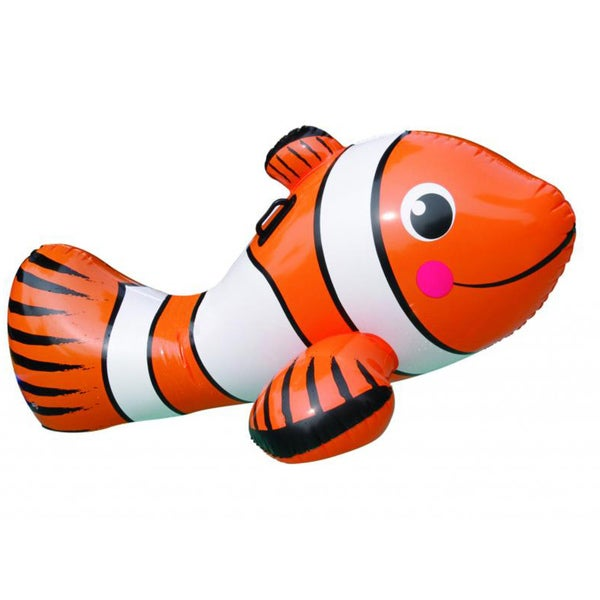 Blue Wave Clown Fish 67-inch Inflatable Ride-On Pool Toy