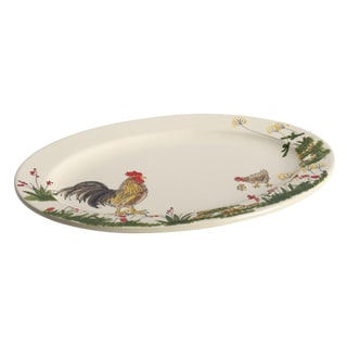 Paula Deen Southern Rooster 10-Inch x 14-Inch Oval Platter