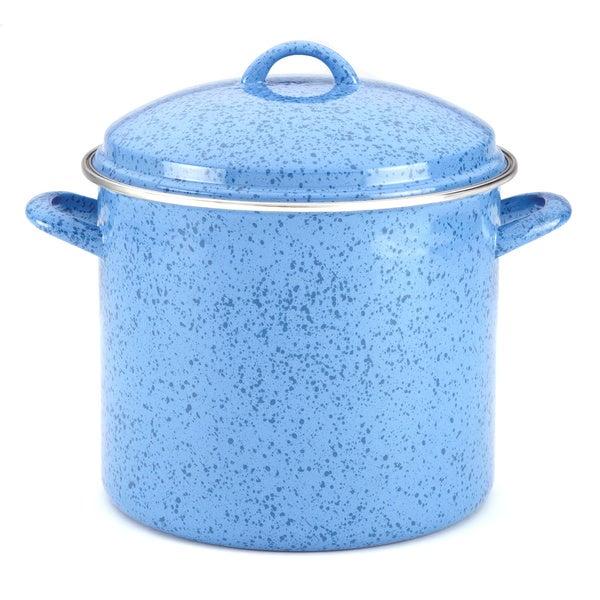 Paula Deen Signature Enamel on Steel 12-Quart Blueberry Stockpot