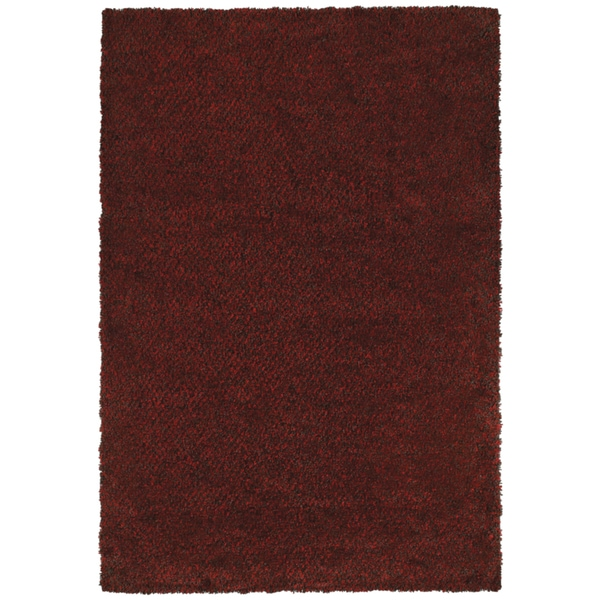 Indoor Red/Brown Shag Area Rug - 9'10 x 12'7