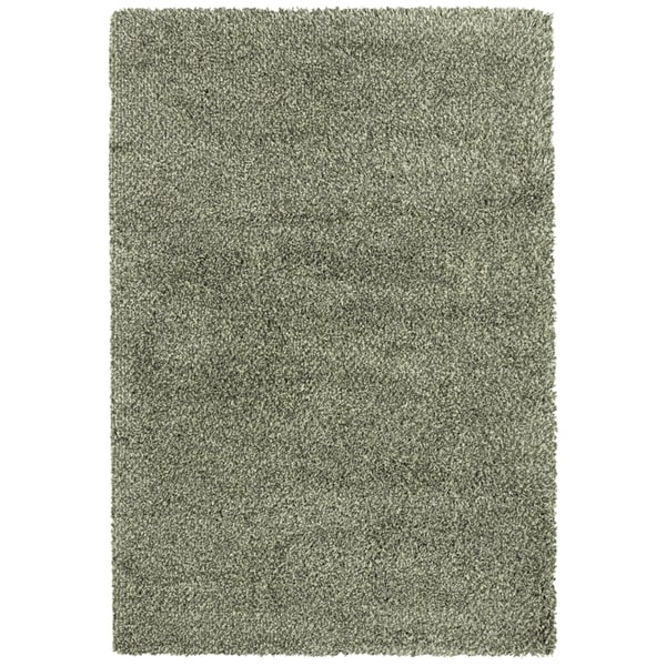 Indoor Blue/Ivory Shag Area Rug - 9'10 x 12'7