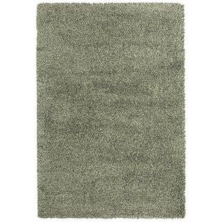 Indoor Blue/Ivory Shag Area Rug (9'10 x 12'7)