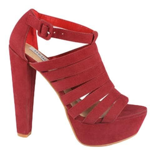 Women's Wild Diva Daisy-01 Red Faux Suede - Thumbnail 1