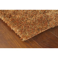 Indoor Rust/ Gold Shag Area Rug - 9'10 x 12'7