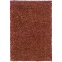 Indoor Red/ Gold Shag Area Rug - 9'10 x 12'7