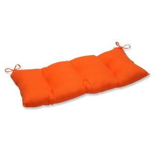 Pillow Perfect Outdoor/ Indoor Sundeck Orange Swing/ Bench Cushion