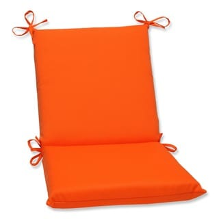 Pillow Perfect Orange Outdoor Chair Cushion